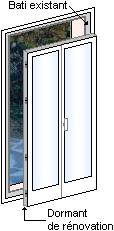 Prix porte fen tre de r novation 2 vantaux fourniture et for Pose porte fenetre renovation