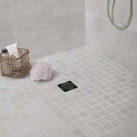 Illustration avec un carrelage de salle de bain