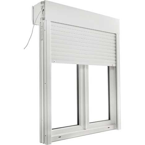 Une fenêtre avec volet roulant