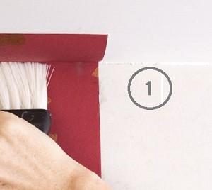 La préparation du support de tapisserie