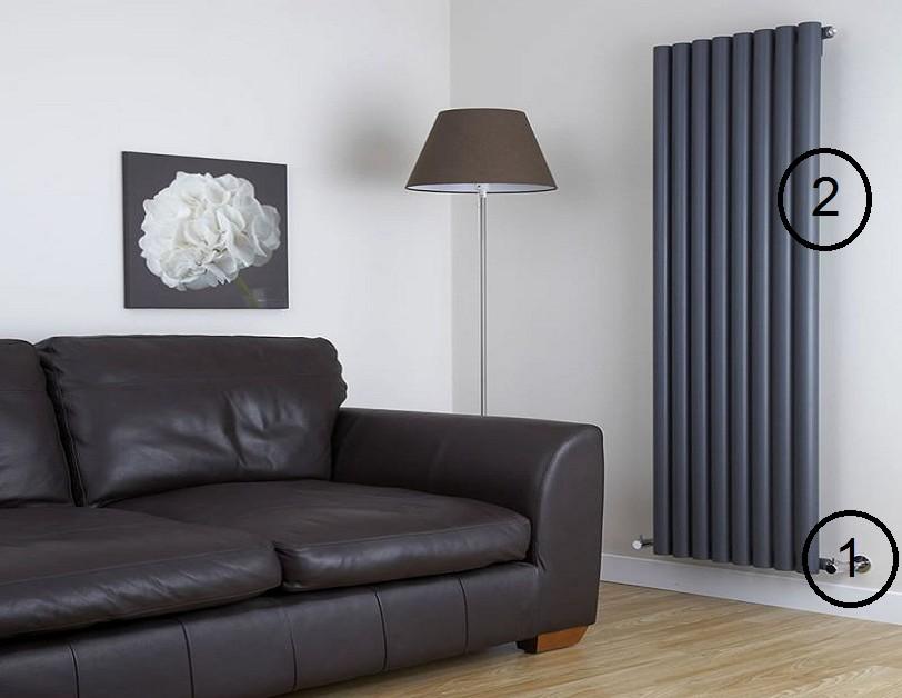 La pose de radiateurs à eau chaude