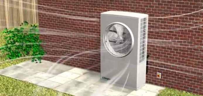 Pompe à chaleur à l'extérieur