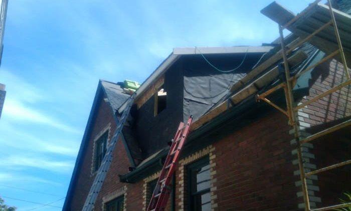 Une modification de toiture
