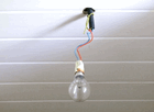 Douille électrique, point lumineux, éclairage plafonnier