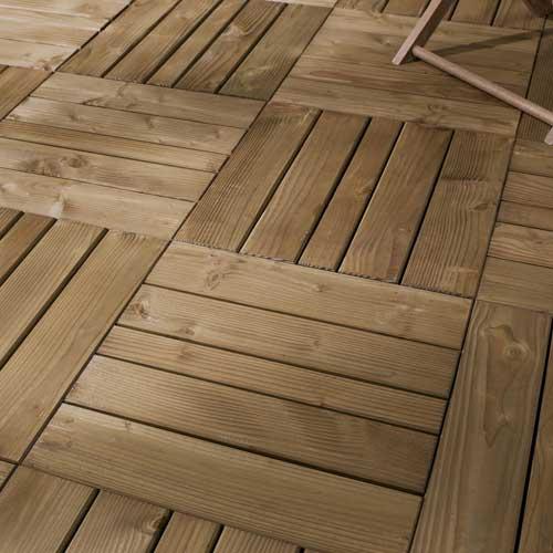 Terrasse bois en dalles autoclaves