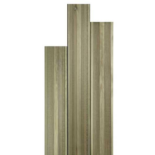 Terrasse bois en lames rainurées